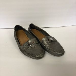 Coach | silver Fredrica driving loafers